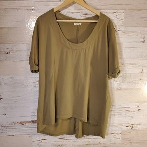 Silence + Noise button down back top